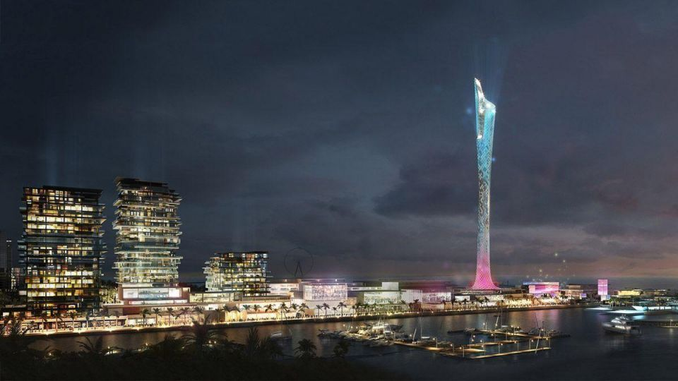 New 325m extreme sports tower proposed for Dubai Marina