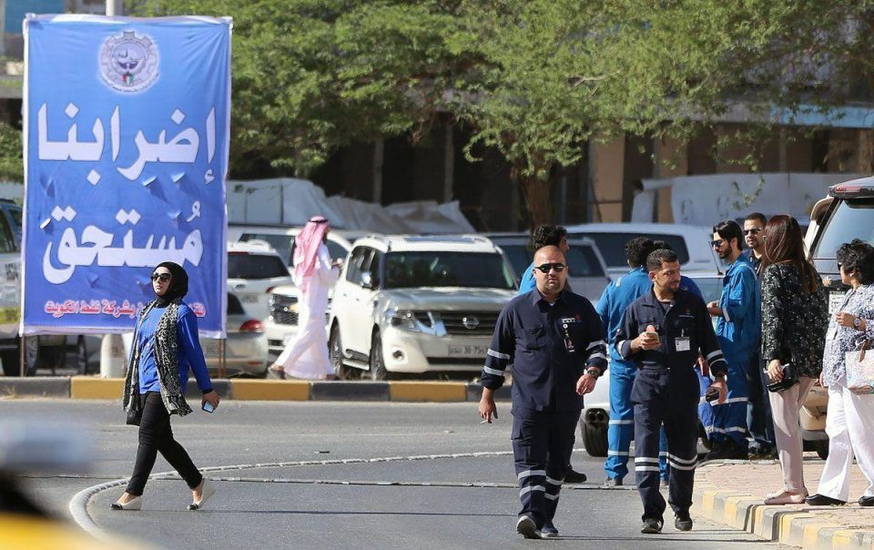 Photos: Oil workers on strike in Kuwait