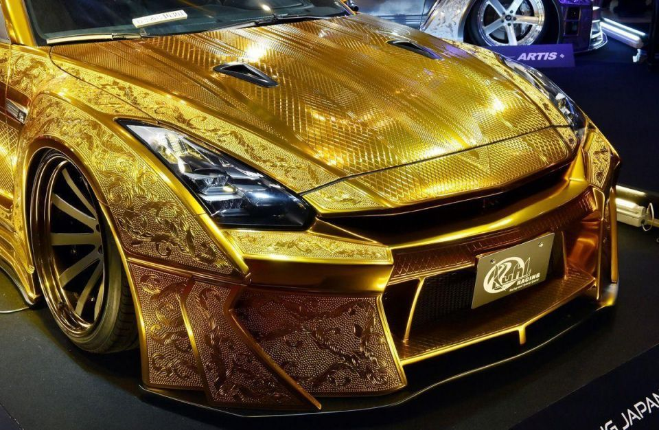 Photos: $1 million gold car unveiled in Automechanika Dubai