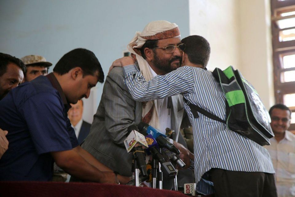 Young Houthi fighters released from prison in Yemen