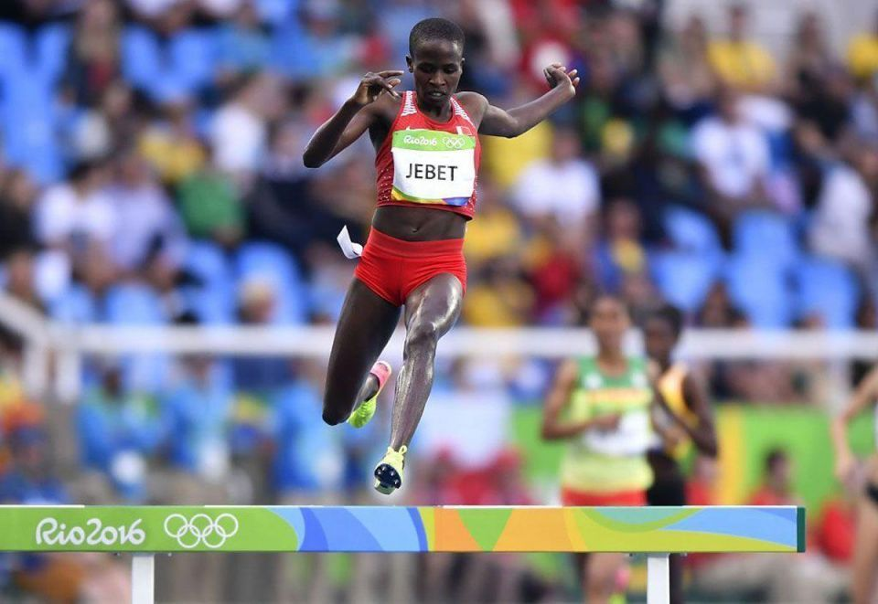 Bahrain's Jebet wins gold in women's 3,000m steeplechase in Rio