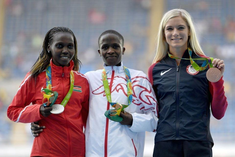 In pictures: Bahrain's Jebet wins gold in women's 3,000m steeplechase in Rio