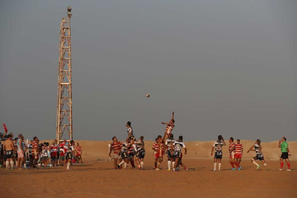 In pictures: Rugby in the sand - RAK Goats vs Beaver Nomads