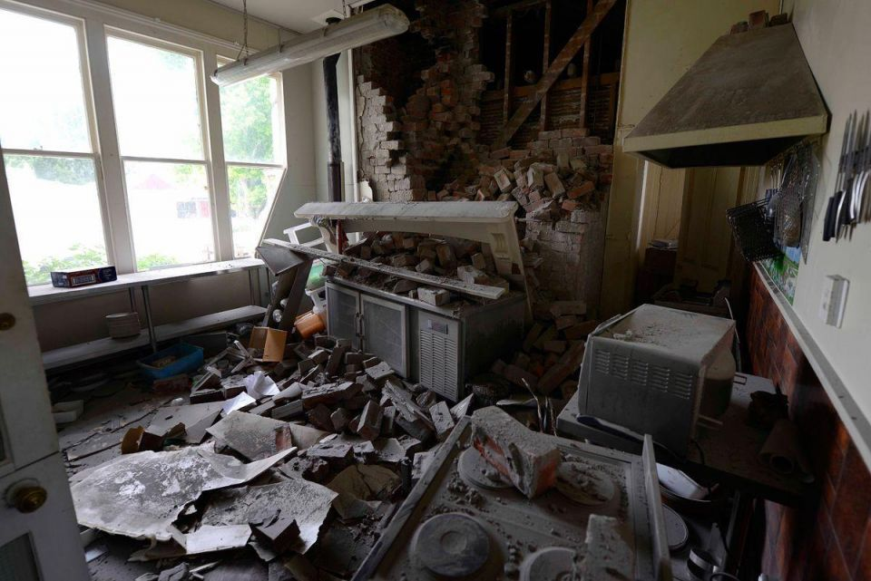 In pictures: Residents survey damage following 7.5 magnitude earthquake in New Zealand