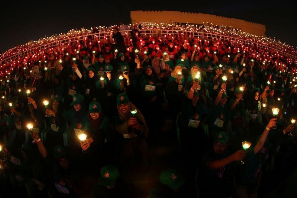 In pictures: Oman sets a Guinness world record for candle-lit national flag
