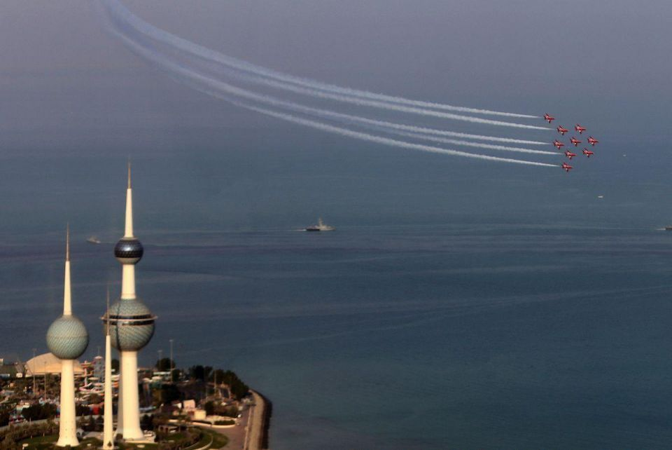 In pictures: UK's Red Arrows show off in Kuwait skies