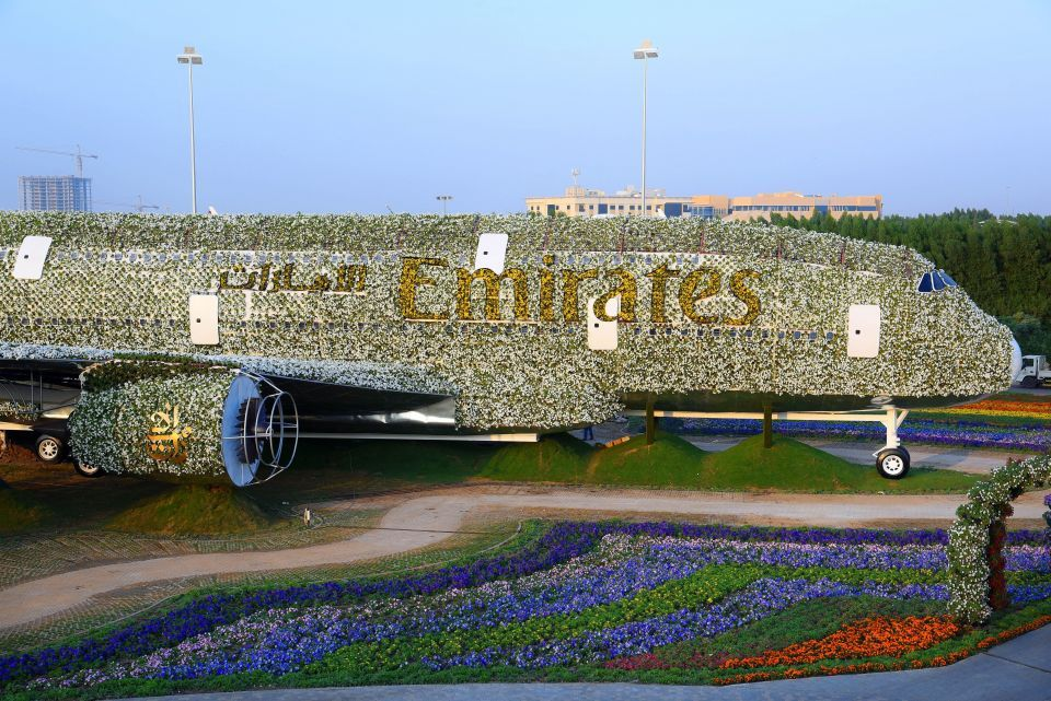 Revealed: Dubai builds floral life-size version of Emirates A380