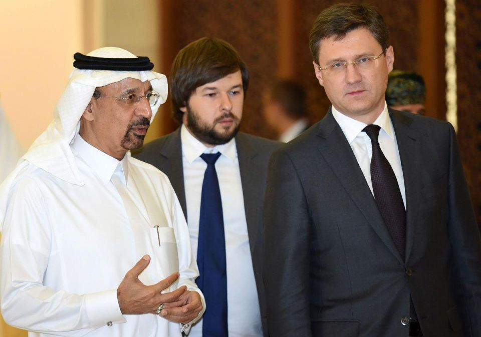 In pictures: Saudi Oil Minister Khalid al-Falih meets with Russian Oil Minister Alexander Novak