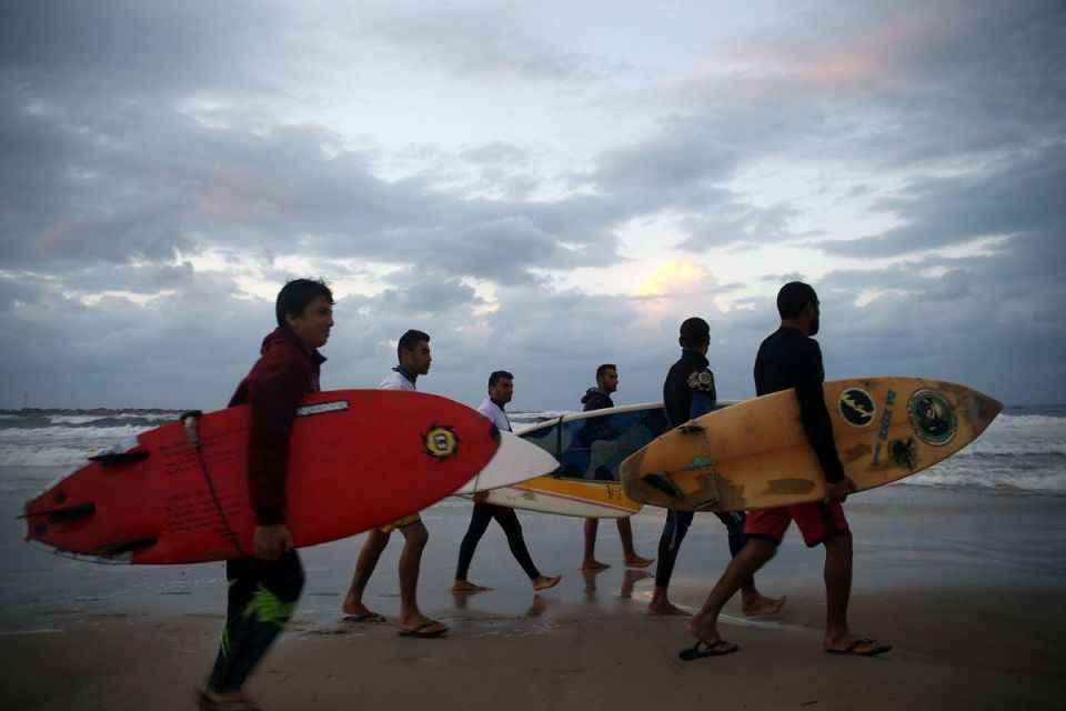 In pictures: Surfing in Gaza