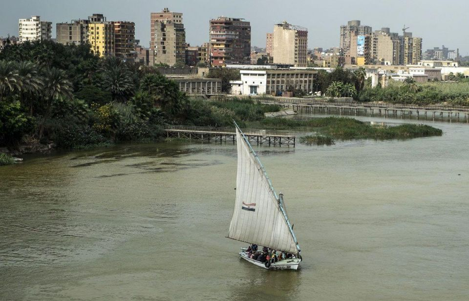 In pictures: Cairo's Nile River changes colour