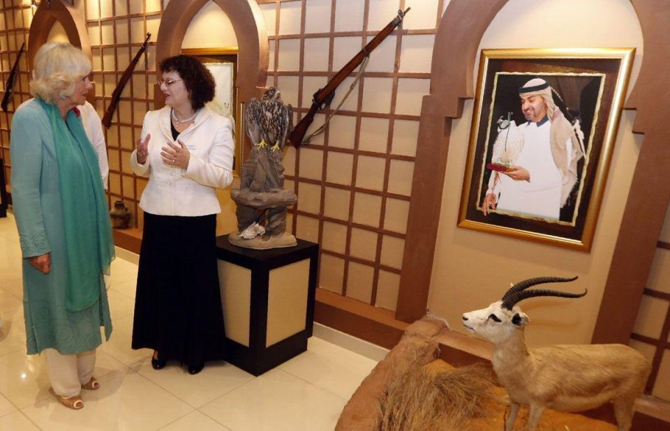 In pictures: The Duchess of Cornwall visits Abu Dhabi Falcon Hospital on UAE Royal tour
