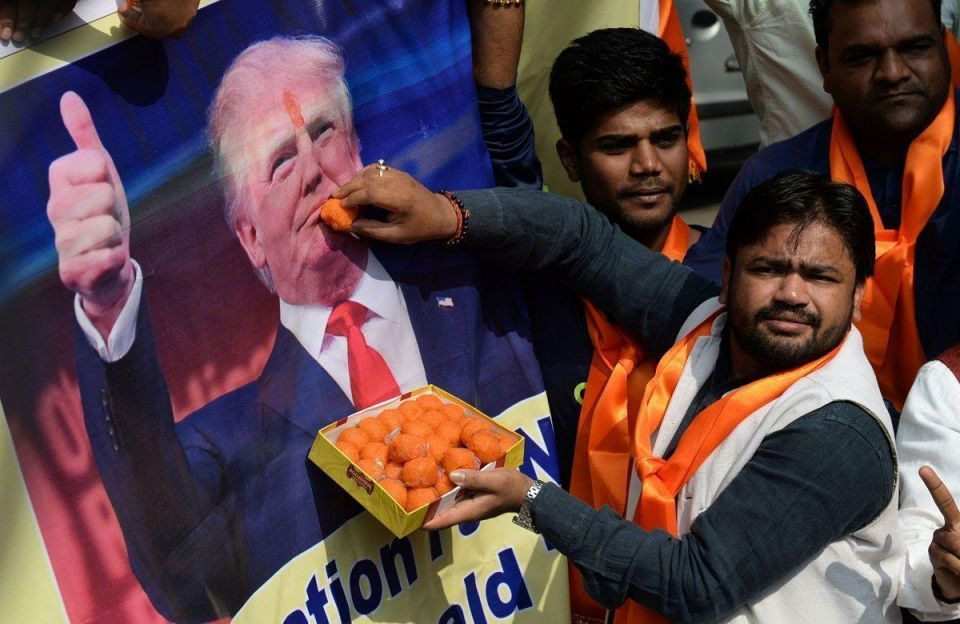 In pictures: Reactions around the world to the US Presidential Election