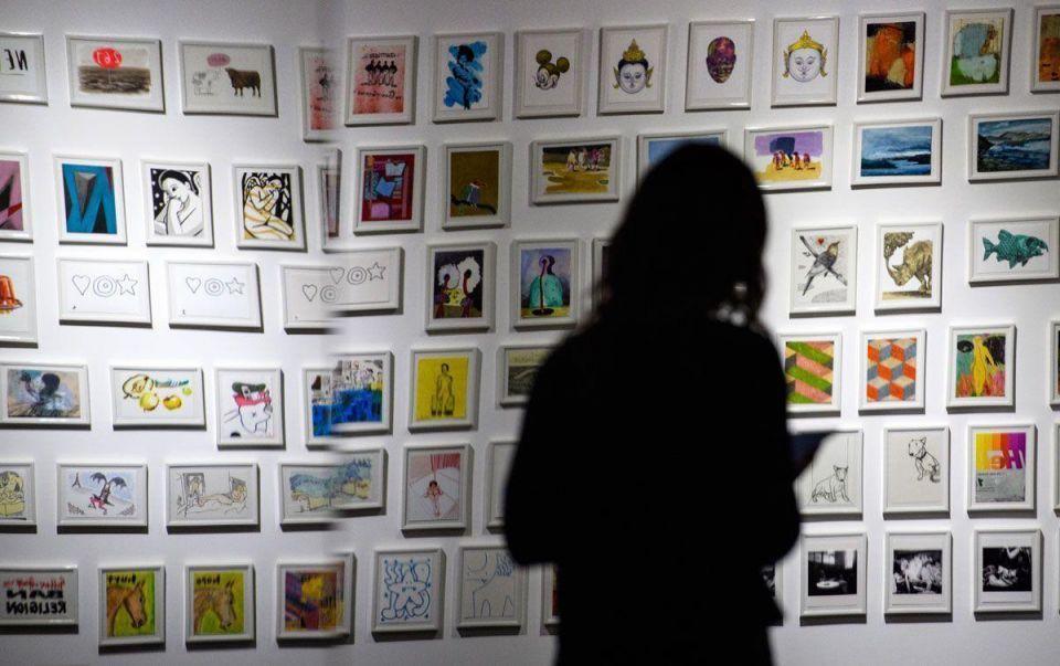 In pictures: Famous artists donate postcard art for secret auction