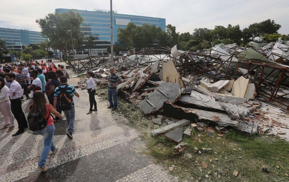 In pictures: Rio Olympics Media Centre becomes a health hazard after its demolition