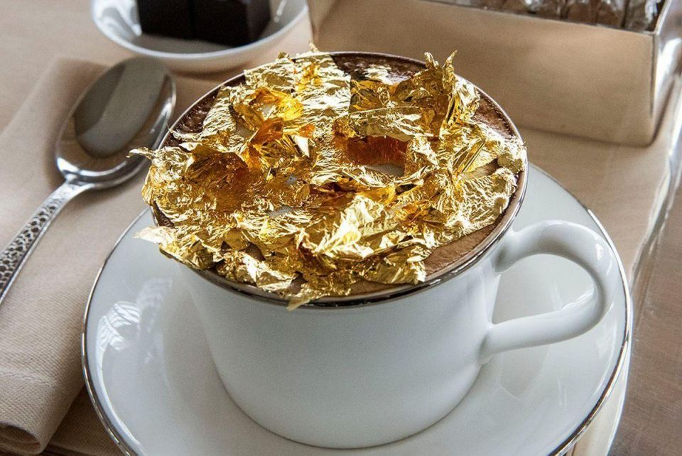 Sip on gold cappuccino at the Armani Hotel Dubai