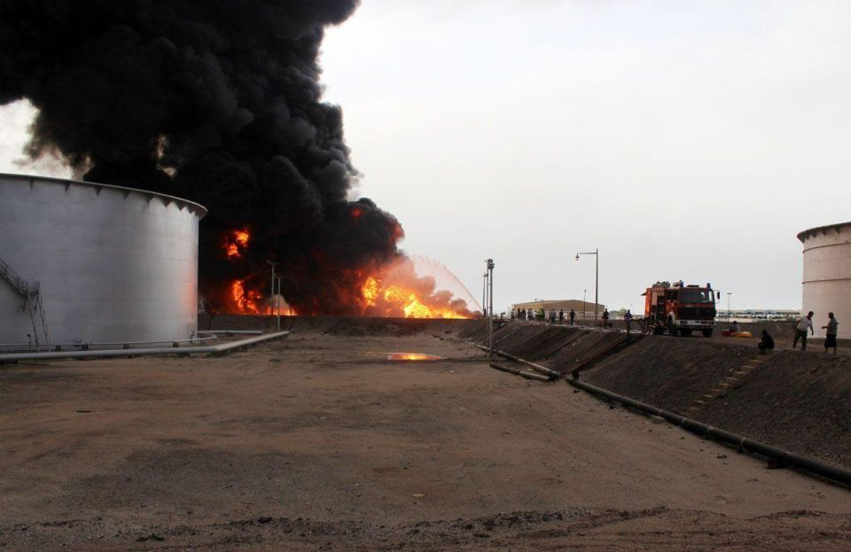 Fires rage at Libyan oil ports after ISIL attacks