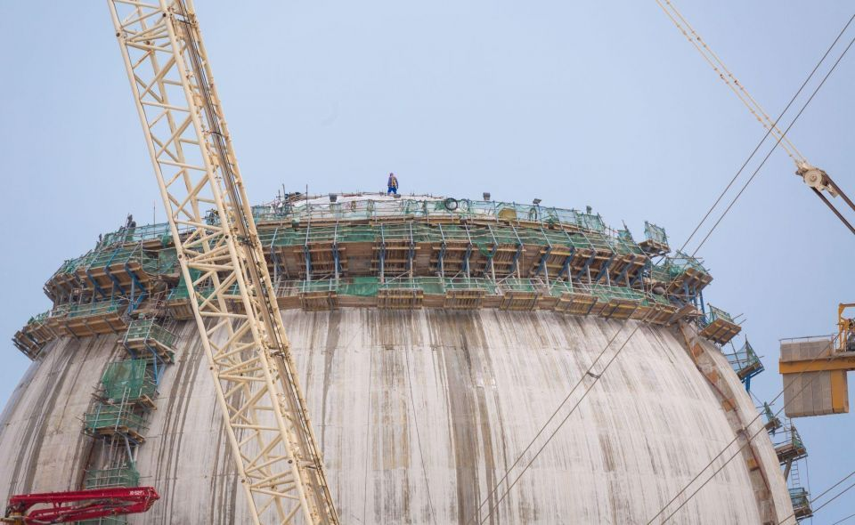 Reactor dome completed on UAE's second nuclear plant