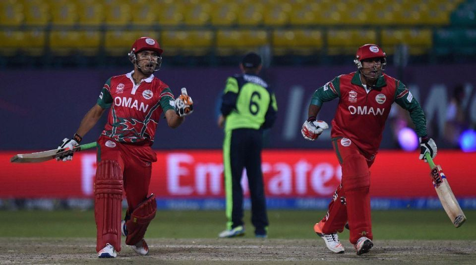 World T20 cricket tournament match between Ireland and Oman in Dharamsala