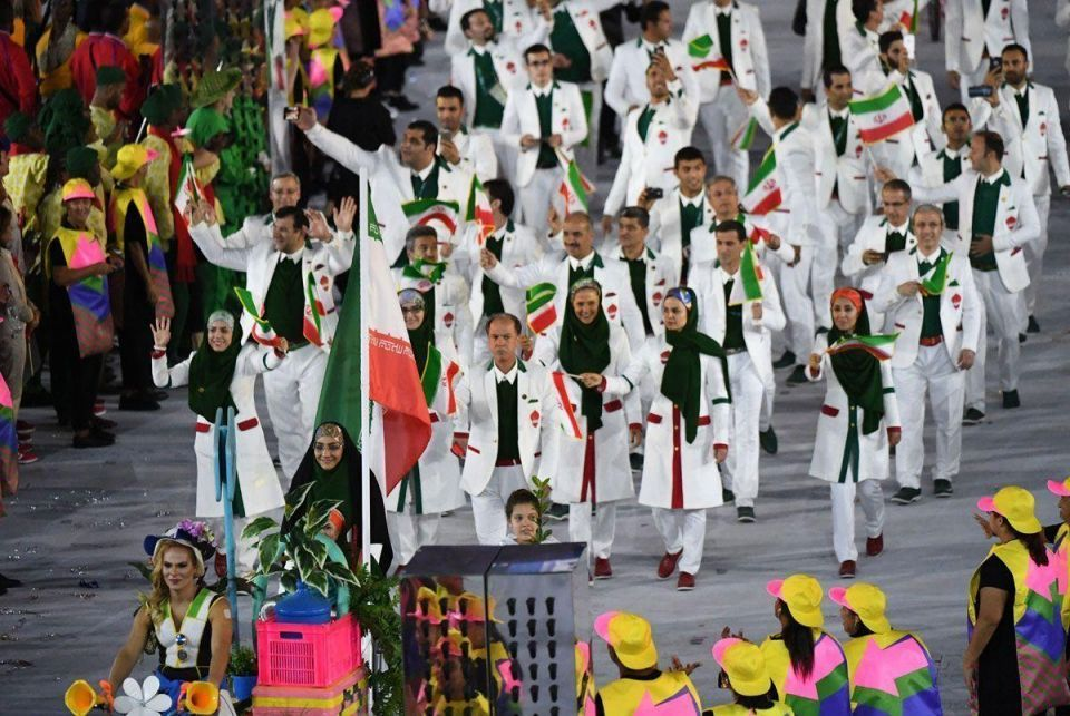 Middle East flag bearers during the opening ceremony of Rio 2016 Olympic Games
