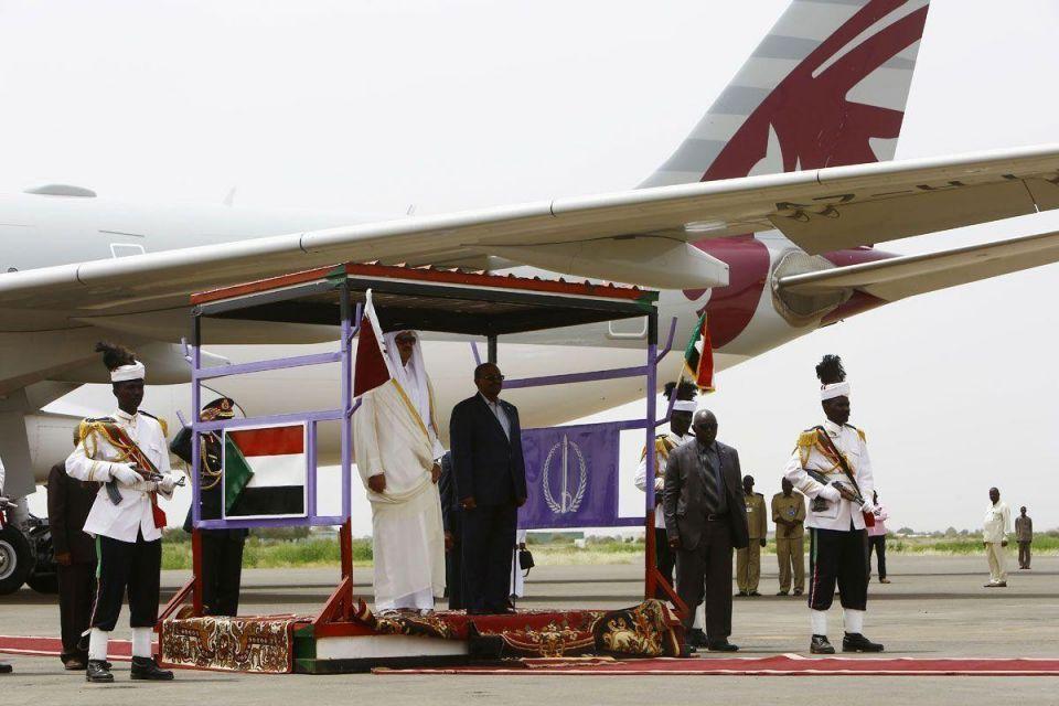 In pictures: Qatari Emir Sheikh Tamim in Darfur