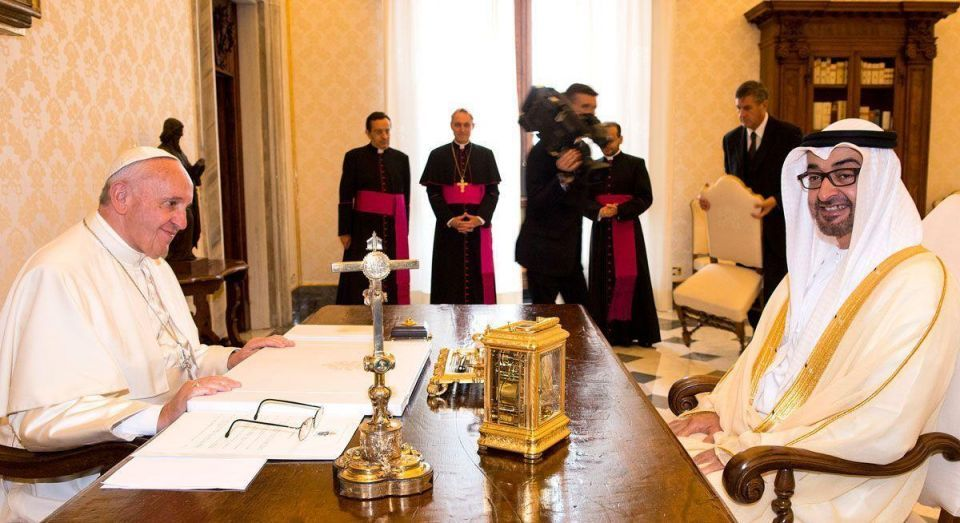 In pictures: Crown Prince of Abu Dhabi visits Vatican in Rome
