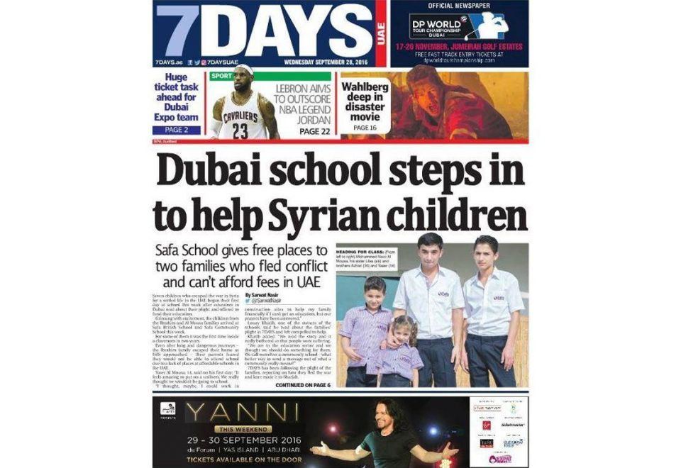 Dubai tabloid 7Days set to cease operations in December