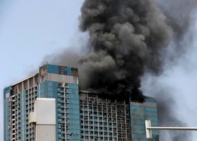 Fire breaks out at Abu Dhabi high-rise construction site