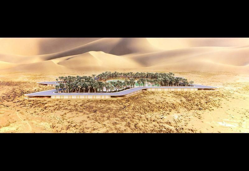 New images released for Baharash Architecture eco-resort in the UAE
