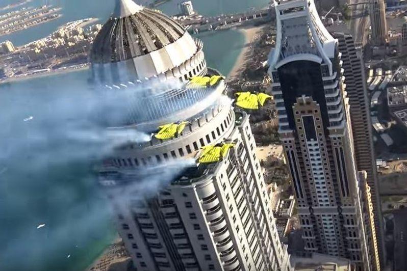 VIDEO: XDubai stuntmen use Dubai Marina skyscrapers as 'vertical maze'