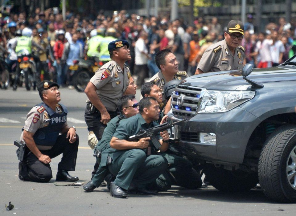 Militants launched a gun and bomb attack in Jakarta, killing at least 6