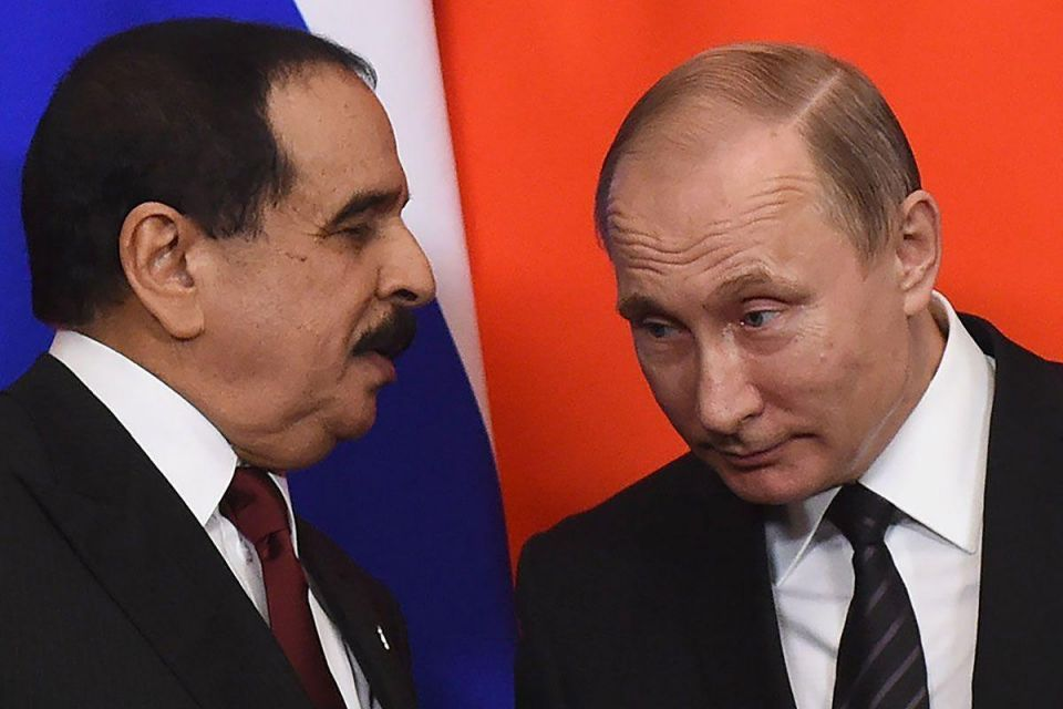 In pictures: Bahrain's King Hamad meets Russian President Vladimir Putin