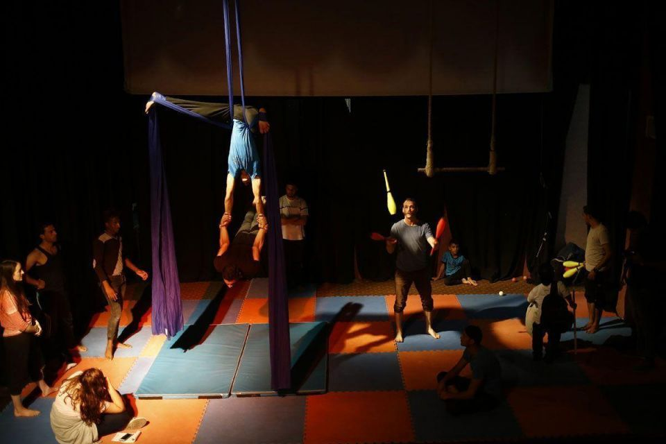 In pictures: Members of the Gaza Circus in training