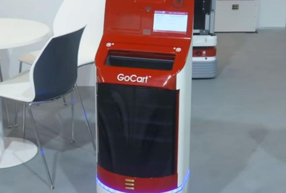 Video: GoCart service robot 'sneaks' through crowds