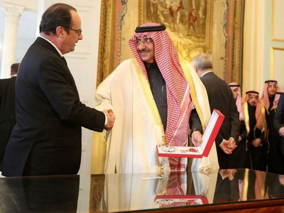 Saudi crown prince awarded France's top legion of honour