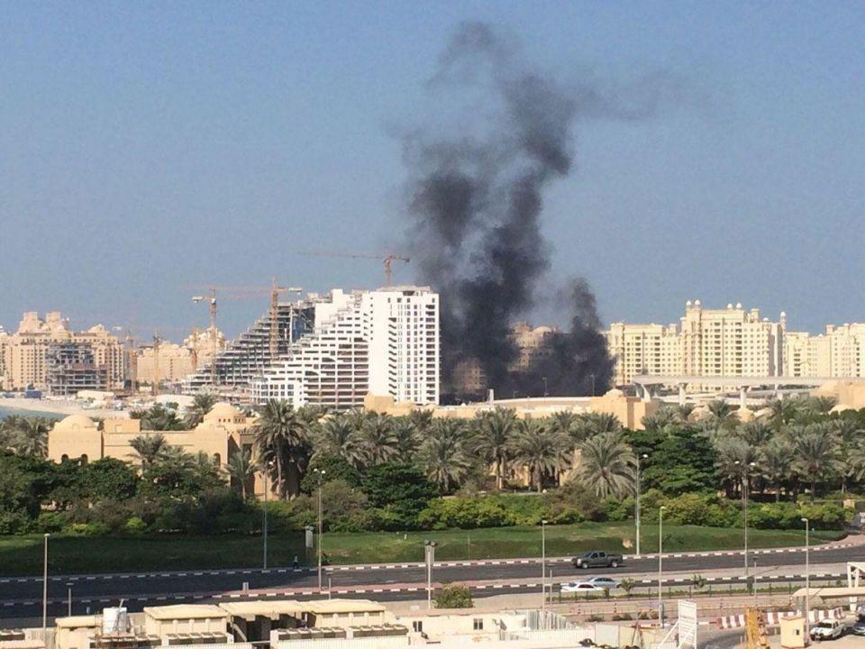 Fire breaks out at Dubai's Palm Jumeirah