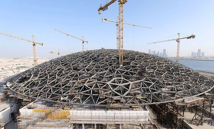 New images reveal Jean Nouvel-designed Louvre Abu Dhabi is well underway