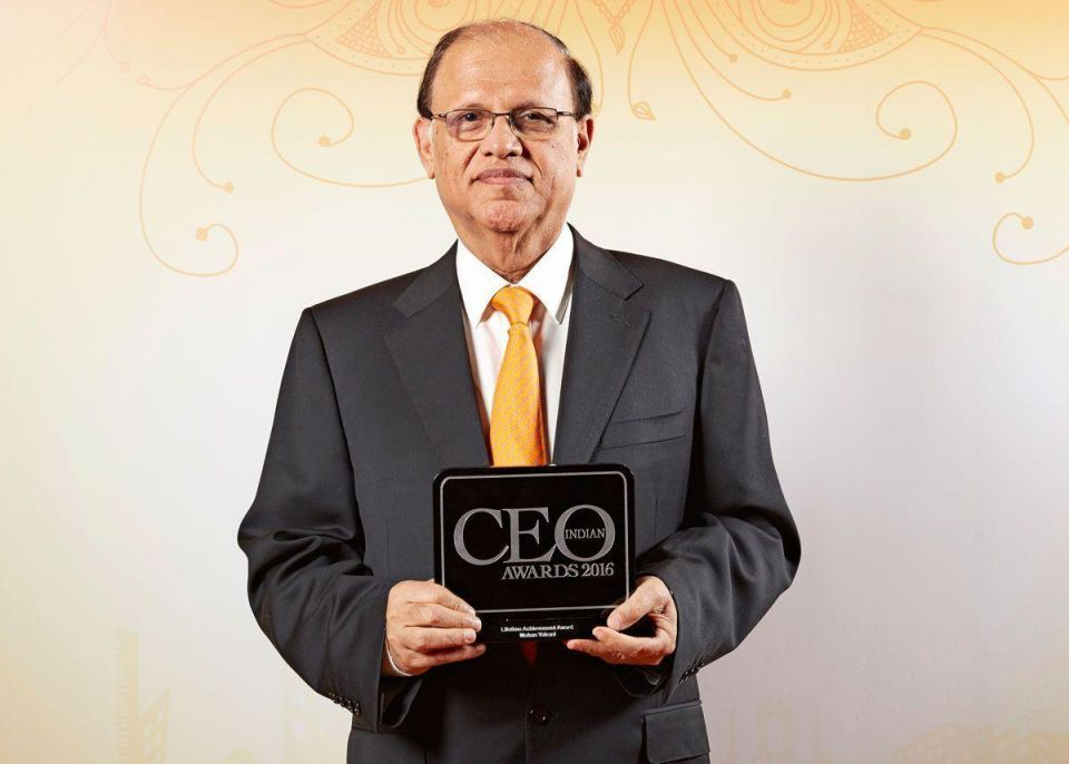 Mohan Valrani takes top honours at Indian CEO Awards