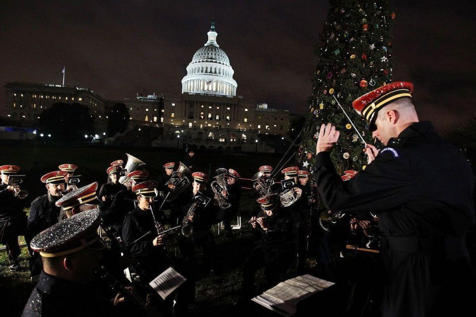 Traditional Capitol Hill Christmas Tree lighting ceremony