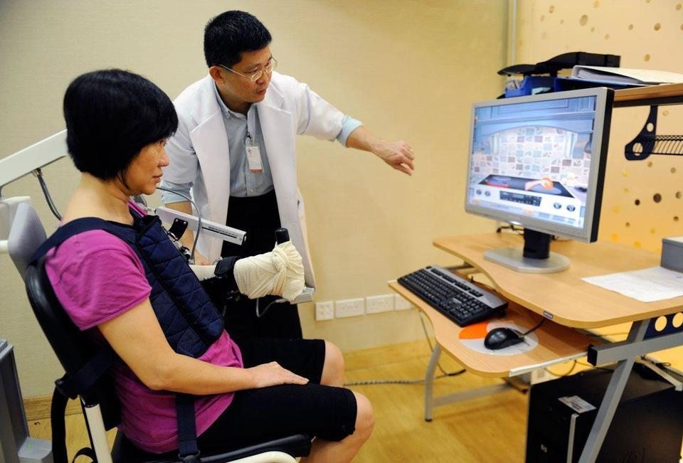 Rehab robot helps restore damaged muscles and nerves