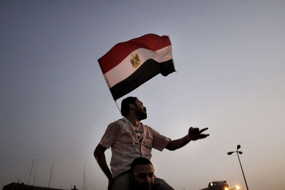 Egyptians stage rare protest in central Cairo