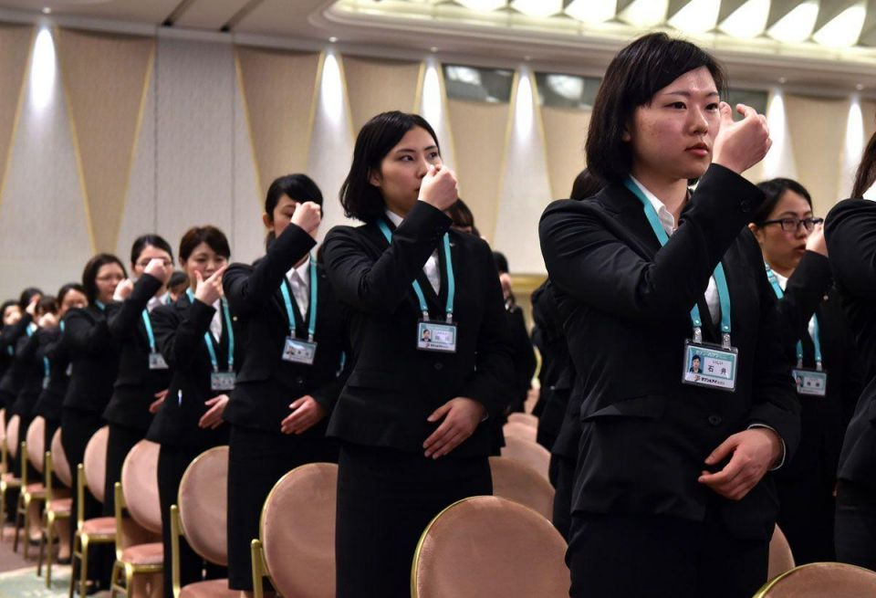 In pics: Induction of new staff in Japan