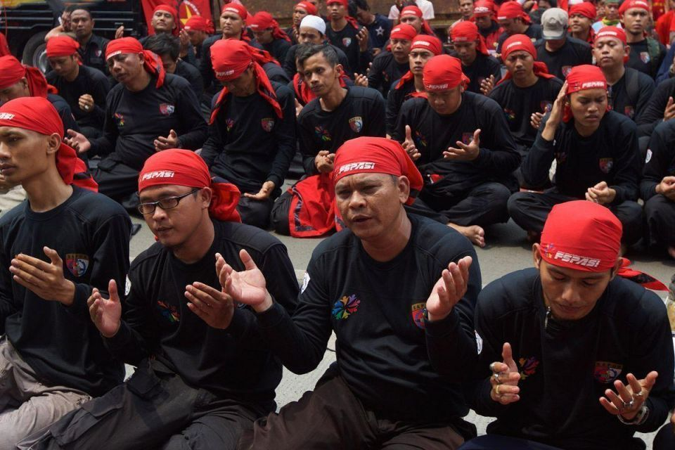 Indonesians gather for May Day rally