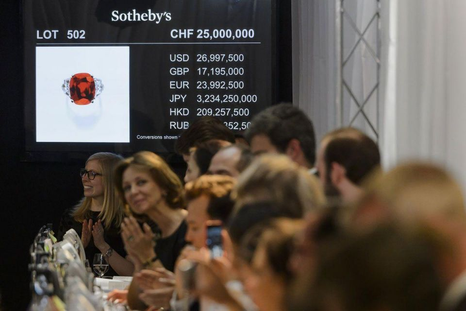 World record price of $30m for The Sunrise Ruby