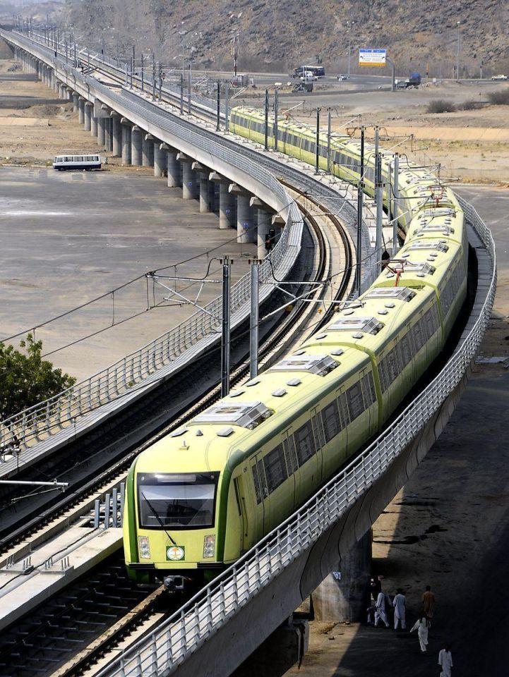 Saudi's newly-opened Holy Sites metro light rail