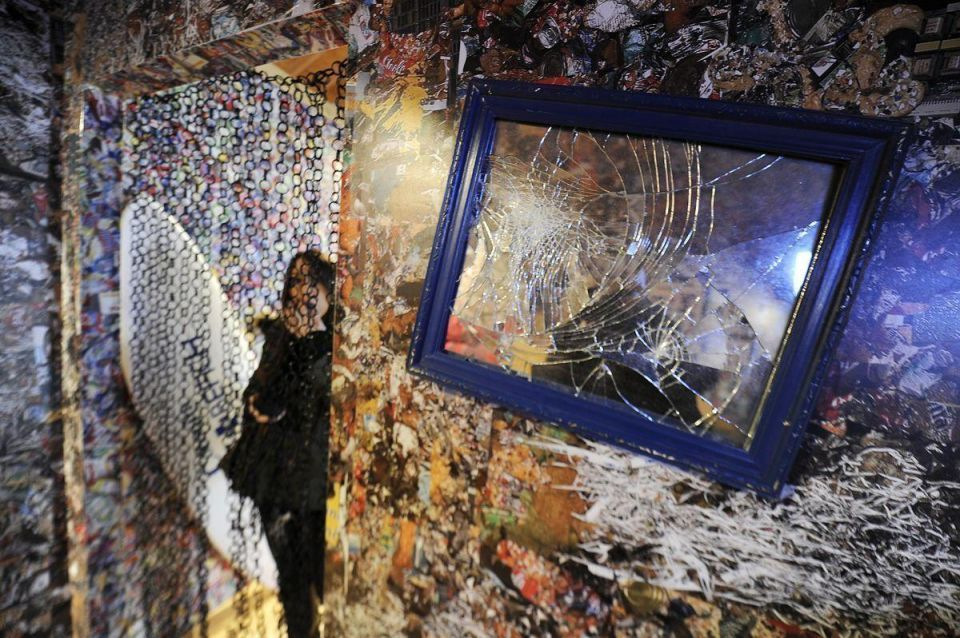 Hotel made of garbage opens in Madrid