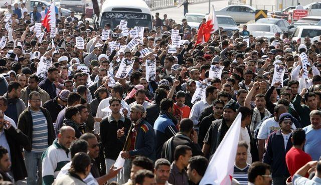 Bahrain protesters camp overnight to demand political change