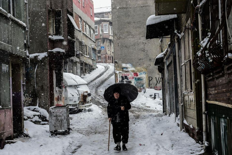 In pictures: Heavy snowfall in Istanbul