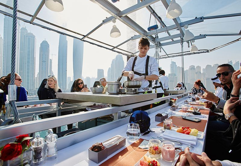 In pictures: Dinner in the Dubai sky preview