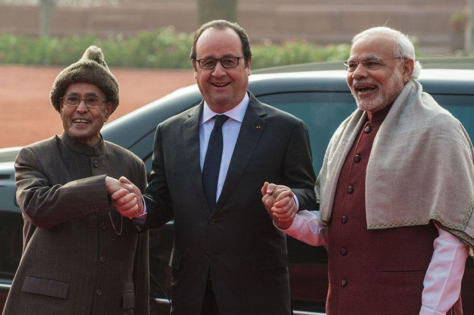 French President Francois Hollande's visit to India