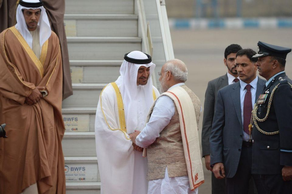 In pictures: Crown Prince of Abu Dhabi arrives in India for an official visit
